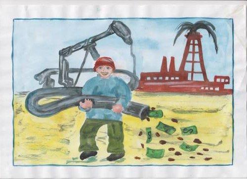 Рисунки детей мы дети нефтяников